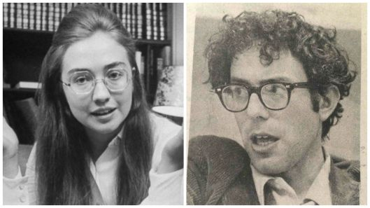 Young Bernie and Young Hillary