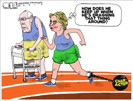 Bernie and Hillary Cartoon